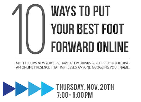 New York City Friends: Join us for a FREE seminar at the BrandYourself Office