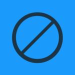 BrandYourself blue, censor symbol
