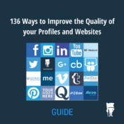 GUIDE: 136 ways to improve the quality of your profiles and websites