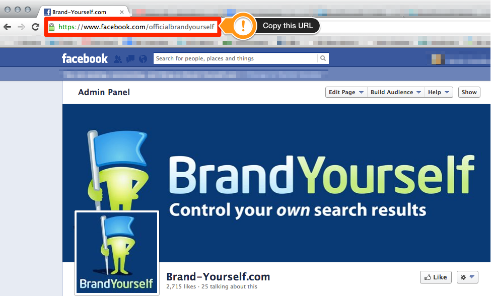 Facebook Page Copy URL Step