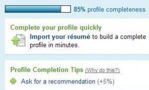 SEO Social Media – Make Sure Your LinkedIn Profile is 100 Percent Complete