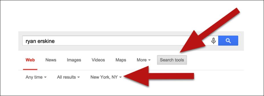Location google search