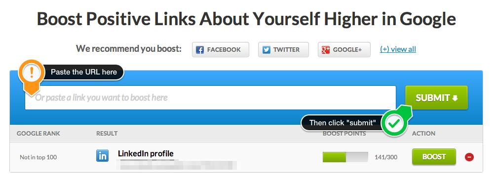 Submit link URL