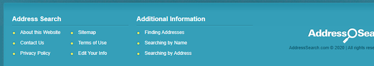 address search footer