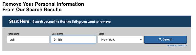 backgroundalert.com opt out form