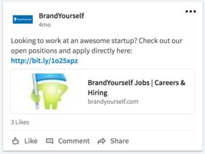 BrandYourself, linkedin, job posting