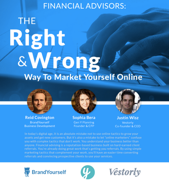 brandyourself webinar financial advisors