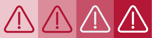 BrandYourself, caution signs on red background
