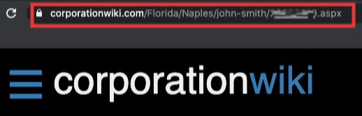 corporationwiki listing url