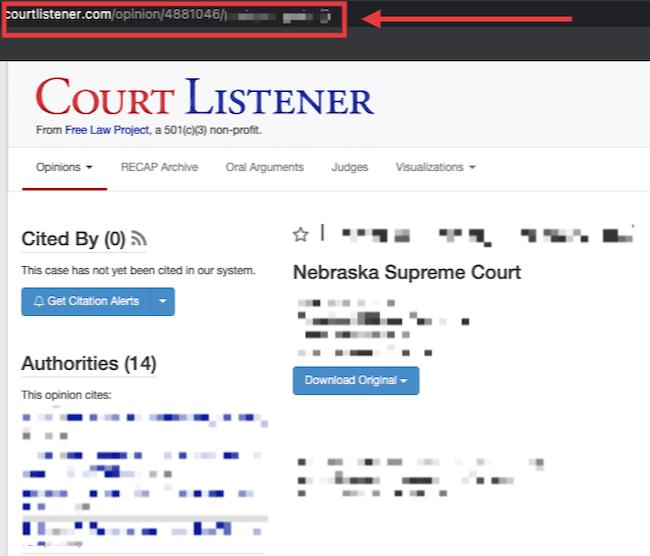 courtlistener link