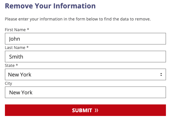 courtrecords.org opt out form