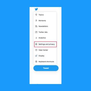 Delete Twitter Account - Settings