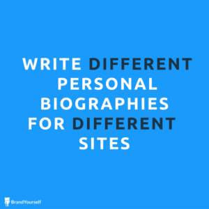 Write different bios for different sites
