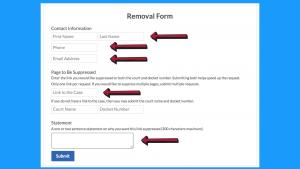 DocketAlarm.com Record Removal Form