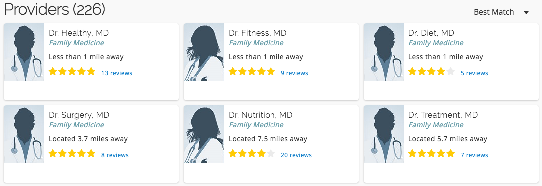 reputation management for doctors heathgrades screenshot