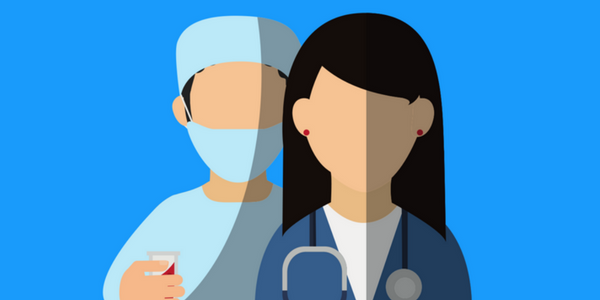 BrandYourself, male and female doctors