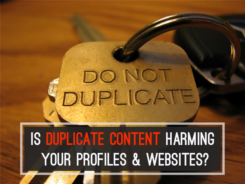 Is Duplicate Content Harming Your Profiles & Websites?