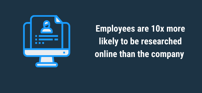 employees researched more than company