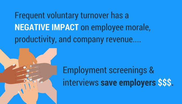 The reasons why companies implement employment screening.