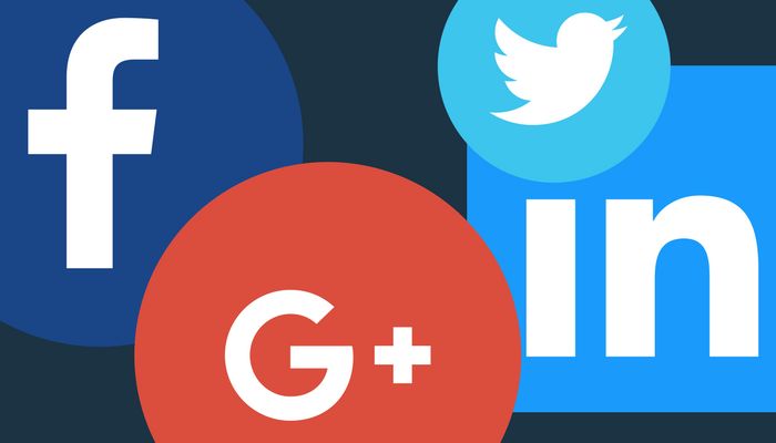 Facebook, Twitter, LinkedIn, and Google Plus