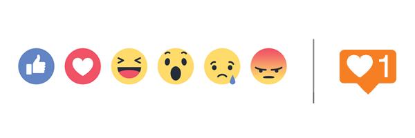BrandYourself, facebook reactions, instagram icon