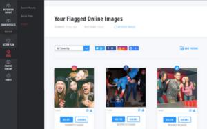 BrandYourself, scanner dashboard, flagged images