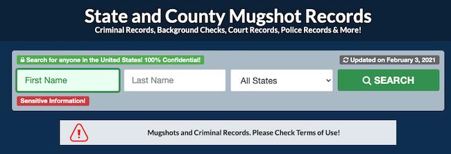 golookup mugshot search