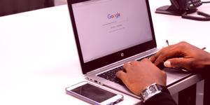 BrandYourself, google search on laptop
