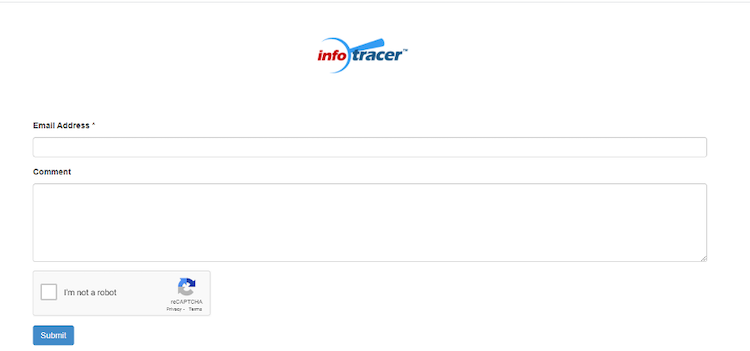 infotracer opt out submission