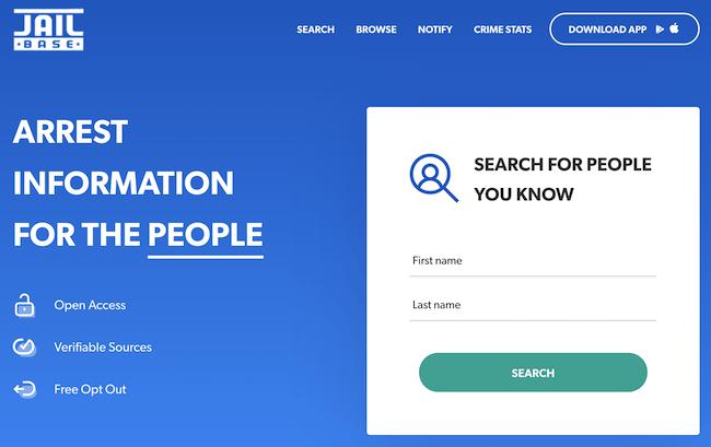 jailbase homepage