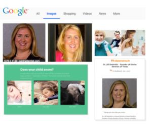 BrandYourself, Jill Ombrello, Google image search results, social media images