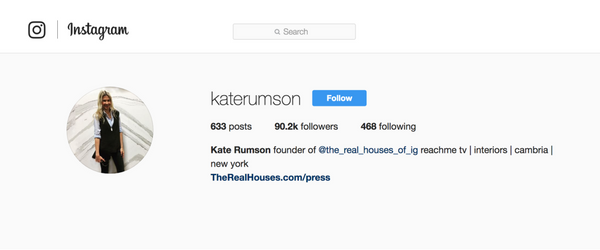 Kate Rumson Instagram page.