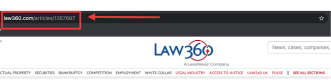law360 article