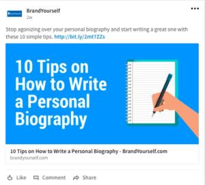 BrandYourself, linkedin, 10 tips on how to write a personal bio