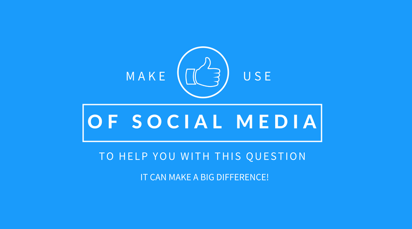 Make use of social media when answering this question