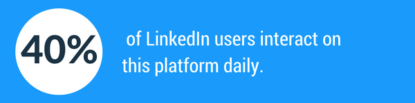40% of LinkedIn users use the platform on a daily basis.