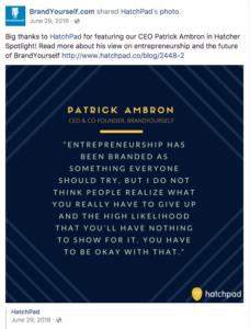 BrandYourself, entrepreneurial quote, linkedin