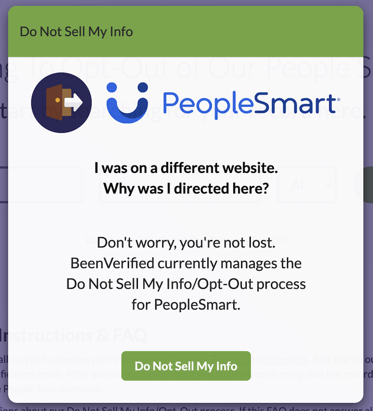peoplesmart opt out