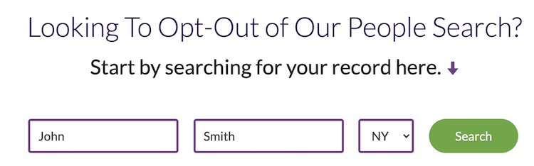 peoplesmart opt out search