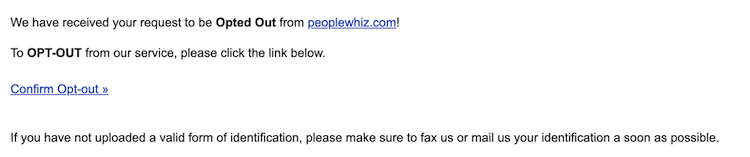 peoplewhiz email confimration