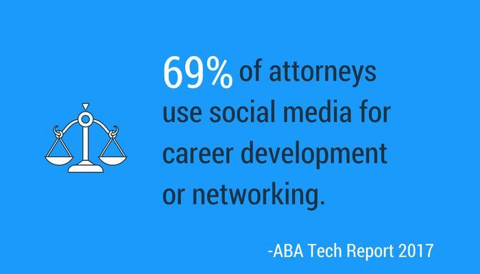 Almost 70 percent of attorneys use social media for career development or networking, making personal branding for lawyers very important.