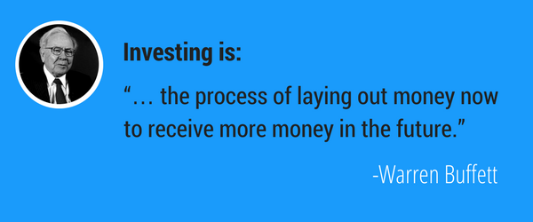 Investment quote from Warren Buffett.
