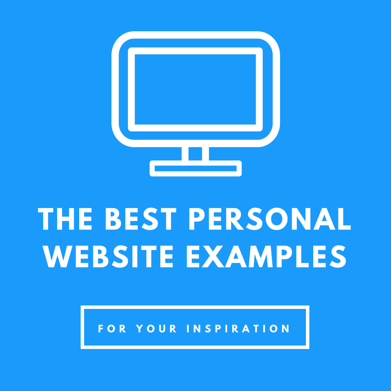 15 Of The Best Personal Website Examples Around (2018)