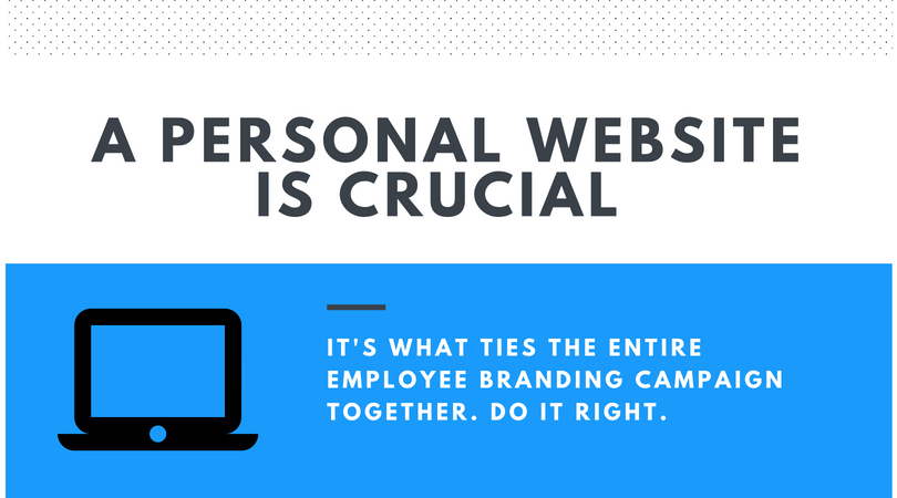 The importance of a personal website as the cornerstone of all employee branding campaigns.