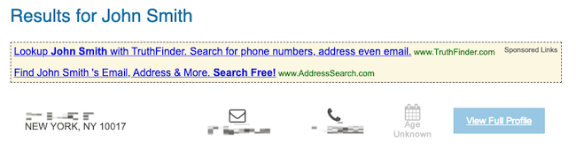 phonebooks.com search results