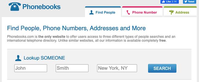 phonebooks.com search