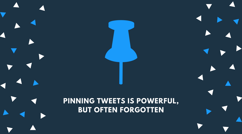 Using pinned tweets for your Twitter branding strategy