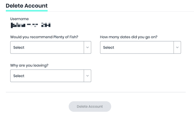 Plenty of fish email not in database