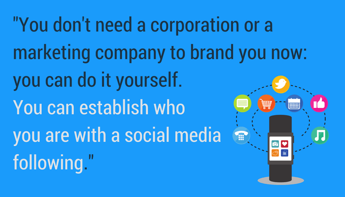 Ray Allen quote on personal branding and the importance of establishing yourself on social media.