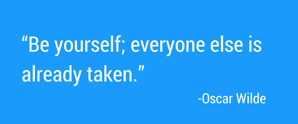 Oscar Wilde quote about being yourself.